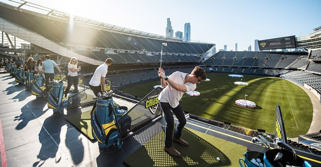 Want to hit balls inside Progressive Field? Of course you do - COURTESY TOPGOLF
