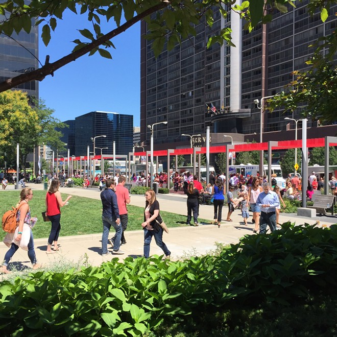 Walnut Wednesday returns to Perk Plaza this spring. - COURTESY DOWNTOWN CLEVELAND ALLIANCE