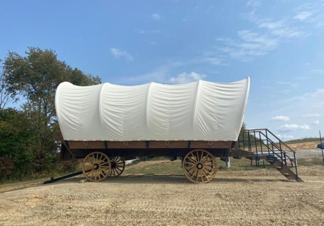 Want to sleep in this wagon? - PHOTO PROVIDED BY WEIRICK COMMUNICATIONS