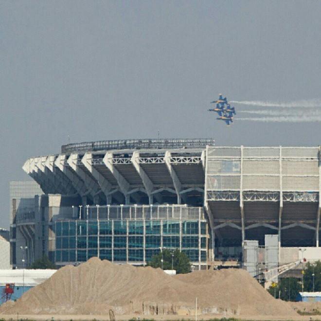Blue Angels over First Energy Stadium, 2012 - PHOTO COURTESY OF RAYFIELD TRISMEGISTUS, INSTAGRAM