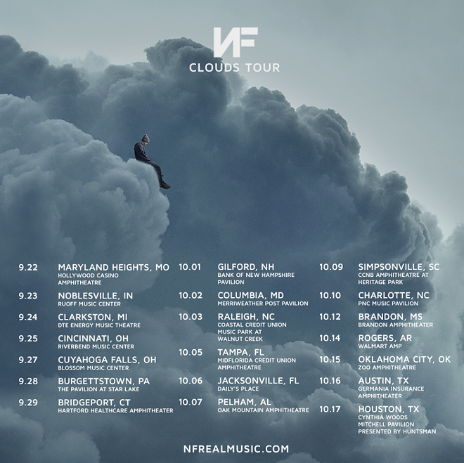 Poster for NF's upcoming tour.