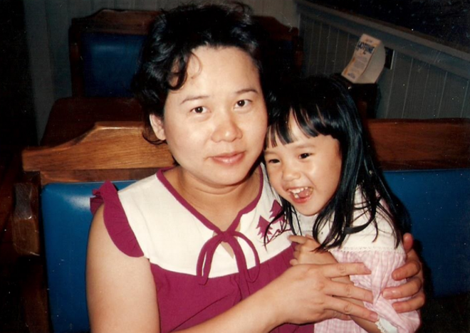 Anne Hu with her mother - COURTESY PHOTO