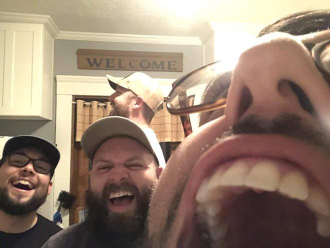 The hosts of The Golden Boys Podcast. - COURTESY OF ALEX NEWSHUTZ