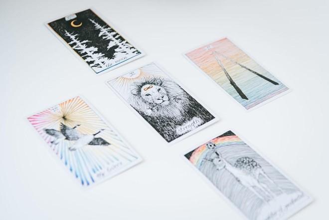 A set of tarot cards