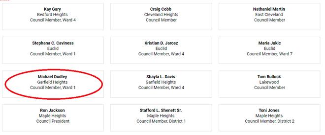 Councilman Dudley says he never endorsed Shontel Brown. - SCREENSHOT: SHONTELBROWN.COM
