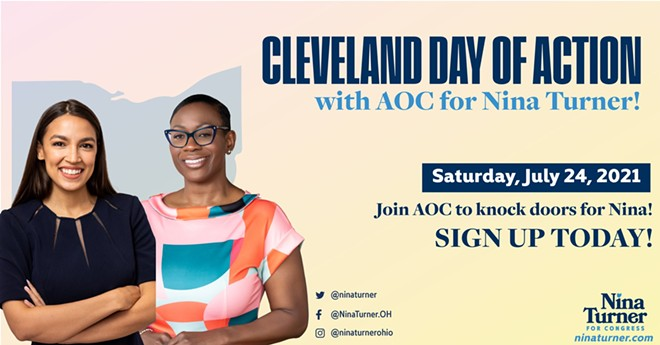 AOC to Campaign in Cleveland for Nina Turner on July 24 @ Ward 14
