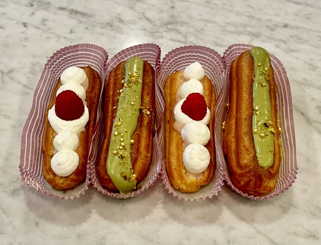 Eclairs are just some of the new pastry offerings that On the Rise bakery will be adding to its menu. - BRITT-MARIE HORROCKS