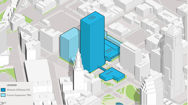 Image from Sherwin Williams concept proposal for global headquarters off of Public Square. - SHERWIN WILLIAMS