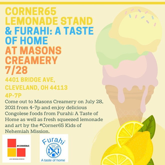 A Congolese pop-up is coming to Mason's Creamery. - FURAHI: A TASTE OF HOME