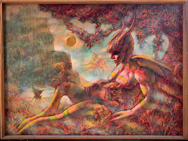 """Burt Shonberg's """"Magic Landscape"""" (Lucifer In The Garden). - COURTESY OF THE BUCKLAND MUSEUM OF WITCHCRAFT AND MAGIC"""