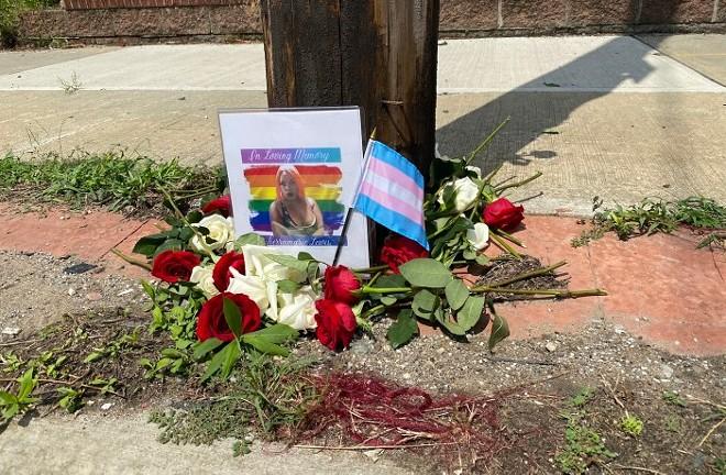 A memorial for Tierramarie Lewis - PHOTO BY KEN SCHNECK