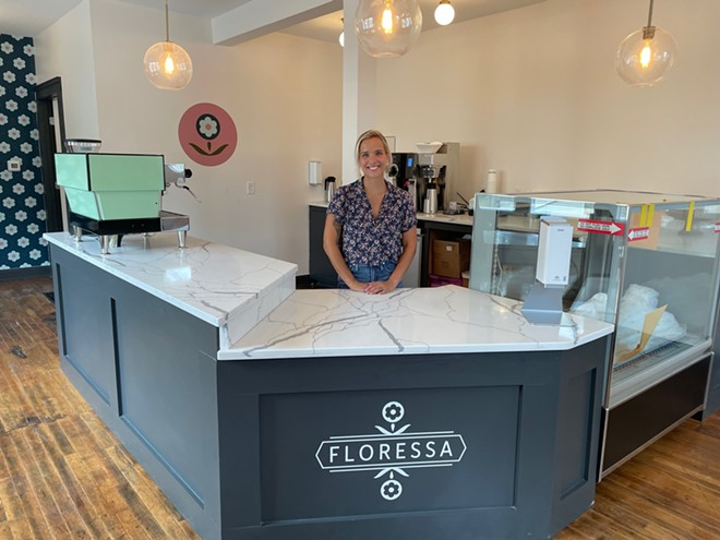 Owner Caitlin Dobson in her new space. - DOUGLAS TRATTNER