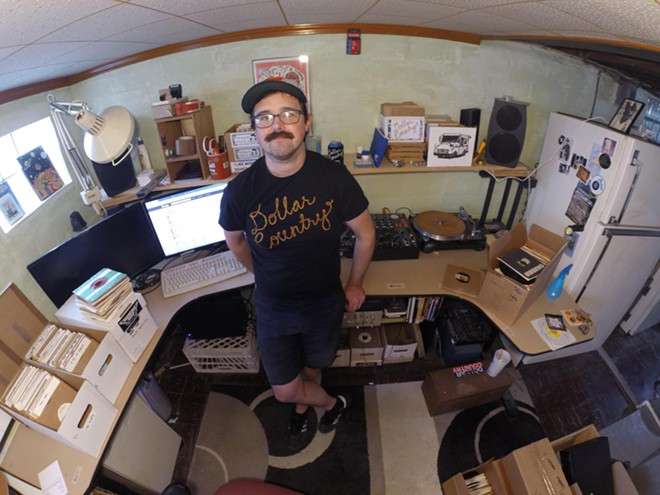 Fantini's basement setup - COURTESY FRANKLIN FANTINI