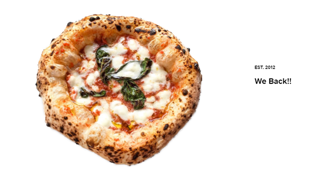 Vero Pizza in Cleveland Heights is back. - COURTESY VERO PIZZA