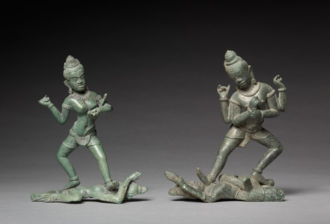 Shamvara and A Dakini, c. 1100. Cambodia, Angkor, 11th century. Bronze; overall: 14.8 cm (5 13/16 in.). The Cleveland Museum of Art, Leonard C. Hanna, Jr. Fund 1985.92 - CLEVELAND MUSEUM OF ART DIGITAL COLLECTION