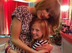 Ava Hixenbaugh met Taylor Swift for the first time in 2013 at the Quicken Loans Arena. - ROB HIXENBAUGH