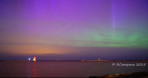 The Northern Lights over Lake Erie, just north of Lorain. - ROBERT CAMPANA