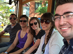 City Hoppers enjoy a trolley ride around town. - RCOUGHLINDESIGN, INSTAGRAM