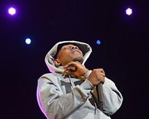 Kendrick Lamar performing at Jacobs Pavilion at Nautica. - JOE KLEON