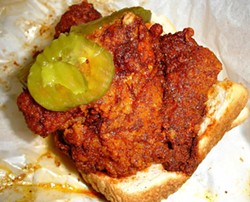 Hot chicken, baby! - PRINCE'S HOT CHICKEN, NASHVILLE