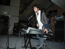 Nicholas Megalis performs at the 2007 High School Rock Off. - COURTESY OF LIVE NATION