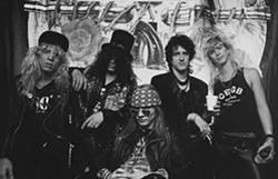 GNR back in the day. - COURTESY OF THE ROCK AND ROLL HALL OF FAME AND MUSEUM