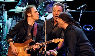 Springsteen and his E Street buddies playing at the Q. - JOE KLEON