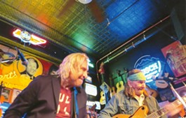 Joe Walsh (left) jamming with Glenn Schwartz in Nashville. - BOBBY SOUTHALL