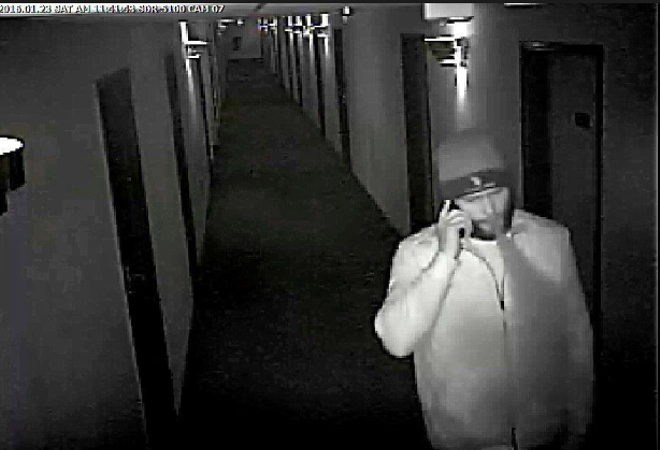 SURVEILLANCE VIDEO STILL FROM THE UNIVERSITY HOTEL AND SUITES