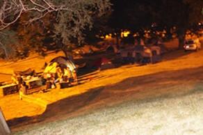 Chit-chatting campers at Kirtland Monday night. - SAM ALLARD / SCENE