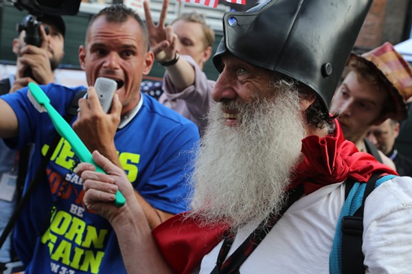 Vermin Love Supreme in downtown Cleveland on Day 2 of the RNC. - EMANUEL WALLACE / SCENE
