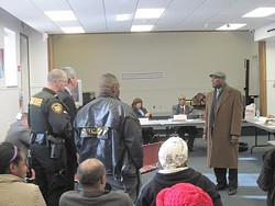One of our favorite East Cleveland memories: William Fambrough confronts the board, with police in tow, in January, 2015.