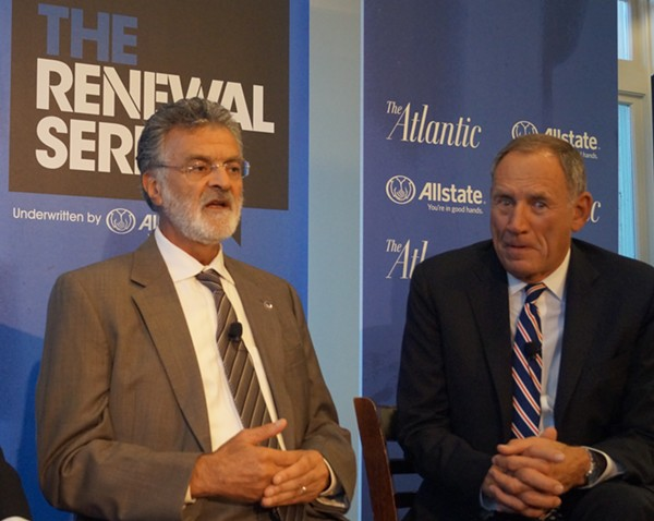 "Mayor Frank Jackson talks; Dr. Delos ""Toby"" Cosgrove LONGS TO SUCKLE AT YOUR SOUL'S TEET. - SAM ALLARD / SCENE"