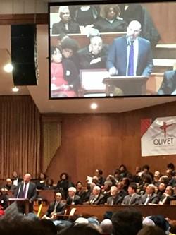 Prosecutor-elect Mike O'Malley speaks before the GCC - SAM ALLARD / SCENE