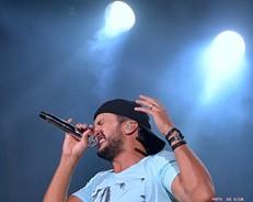 Luke Bryan performing at Blossom in 2014. - JOE KLEON