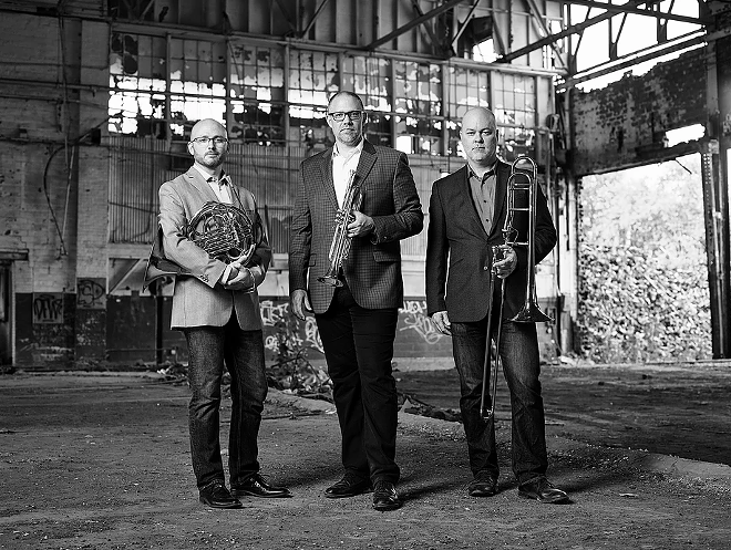 FACTORY SECONDS BRASS TRIO, PHOTO BY ROGER MASTROIANNI