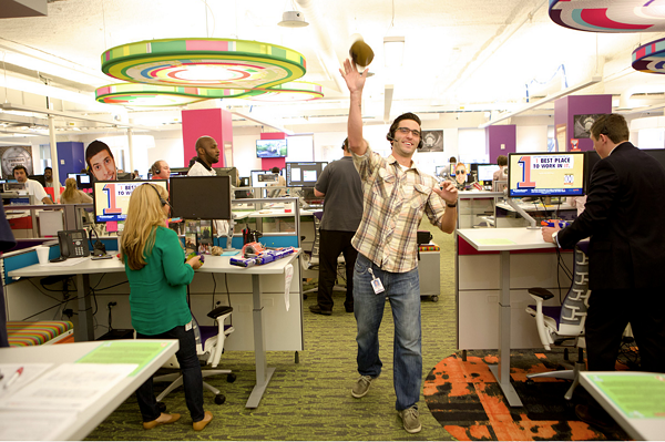 Look how fun it is to work at Quicken Loans. - COURTESY PHOTO