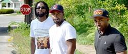 Eugene Johnson (left) with Derrick Wheatt and Laurese Glover - ERIC SANDY / SCENE