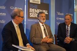 Mayor Frank Jackson and the Clinic's Dr. Toby Cosgrove at an Atlantic panel last year. - SAM ALLARD / SCENE