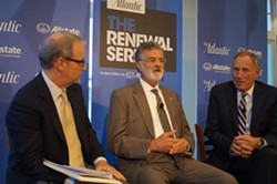 Mayor Frank Jackson and the Clinic's Dr. Toby Cosgrove at an Atlantic panel last year. - SAM ALLARD / SCENE