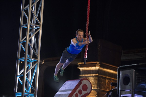 Logan Broadbent running through last year's American Ninja Warrior  obstacle course in Philadelphia. - PHOTO COURTESY NBC