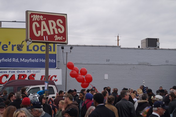 A vigil for the Kuzniks at Mr. Cars in Collinwood, (4/21/17). - SAM ALLARD / SCENE