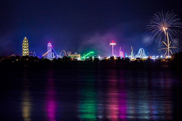 Cedar Point all lit up for the Fourth. - COURTESY OF CEDAR POINT