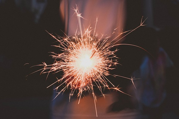 Sparklers are legal for personal use. - PHOTO VIA CREATIVE COMMONS