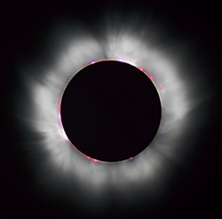 Total solar eclipse, 1999, as seen from France.