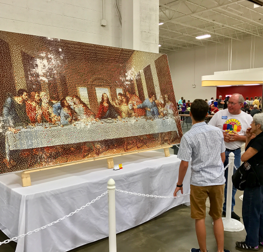 A LEGO Last Supper on display at a fan convention in Virginia last weekend. - PHOTO VIA MRKEVINHINKLE/INSTAGRAM