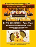 Thanksgiving Eve Bowling Party