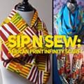 Sip N Sew:  African Print Infinity Scarf