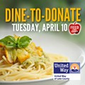 Dine-to-Donate Tuesday, April 10 to Help Feed Lake County