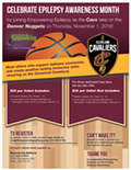 Epilepsy Month Night at the Cavs